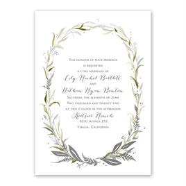 Woodland Halo - Silver -  Foil Invitation