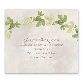 Wedding Reception Cards: Weaved Ivy Information Card