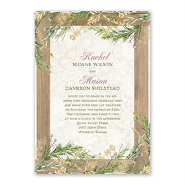 Country Charm - Gold -  Foil Invitation