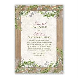 Country Charm - Silver -  Foil Invitation