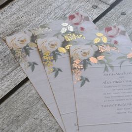 Juliet Garden - Gold - Foil Seal and Send Invitation