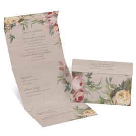 Juliet Garden - Rose Gold - Foil Seal and Send Invitation