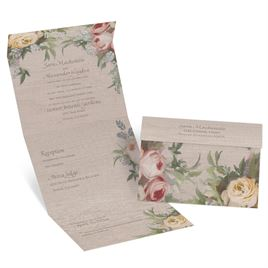 Juliet Garden - Silver -  Foil Seal and Send Invitation