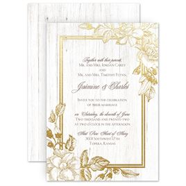 Gold Wedding Invitations | Invitations by Dawn