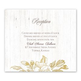 Gold: Gardenia Glow Foil Information Card