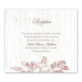 Gardenia Glow - Rose Gold - Foil Information Card