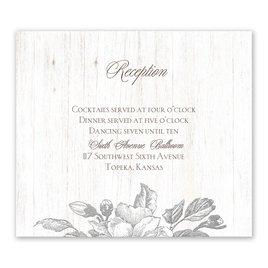 Gardenia Glow - Silver - Foil Information Card
