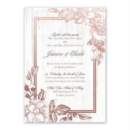 Gardenia Glow - Rose Gold - Foil Invitation