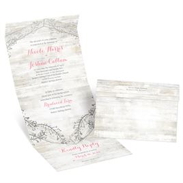 Weathered Glam - Silver - Foil Seal and Send Invitation