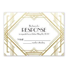 Glamorous - Gold - Foil Response Card