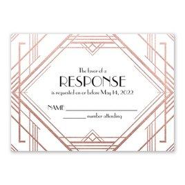 Glamorous - Rose Gold - Foil Response Card