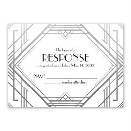 Glamorous - Silver - Foil Response Card