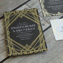 Glamorous - Gold - Foil Invitation