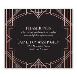 Glamorous - Rose Gold - Foil Information Card