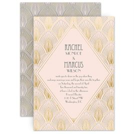 Blush Wedding Invitations: Blushed Vintage Invitation