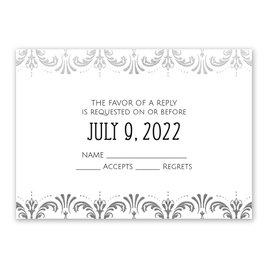 Glam Regency - Silver - Foil Response Card