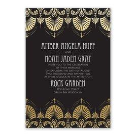 Glam Regency - Gold - Foil Invitation