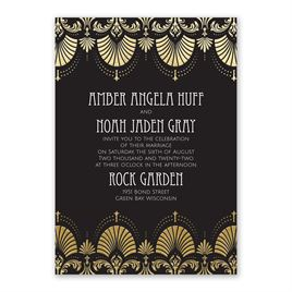 Glam Regency - Gold - Foil Invitation