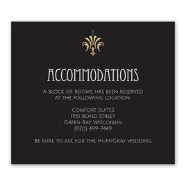 Glam Regency - Gold - Foil Information Card