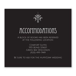 Glam Regency - Silver - Foil Information Card