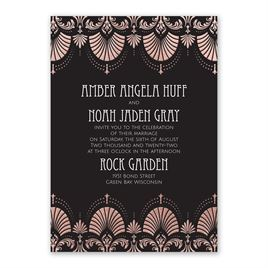 Glam Regency - Rose Gold - Foil Invitation