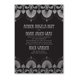 Glam Regency - Silver - Foil Invitation