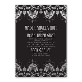 Glam Regency - Silver - Foil Invitation