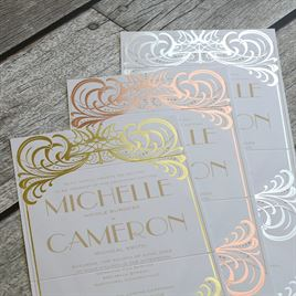 Royal Enchantment - Gold - Foil Seal and Send Invitation
