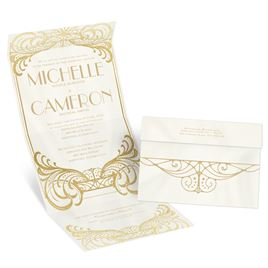art deco wedding invitations invitations by dawn
