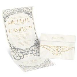 Royal Enchantment - Silver - Foil Seal and Send Invitation