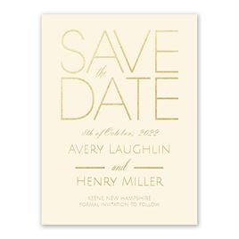Gold Save the Dates: 