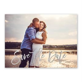 Simply Saved - Silver - Foil Save the Date Card