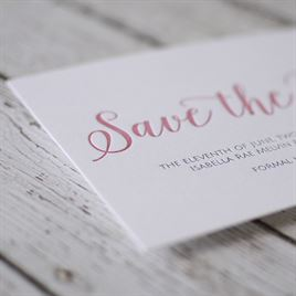 A Classic Date - Letterpress Save the Date Card