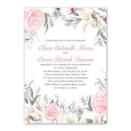 Pale Roses - Rose Gold - Foil Invitation