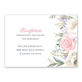 Pale Roses - Gold - Foil Reception Card