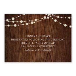 Autumn/Fall: Rustic Celebration Reception Card