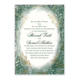 Botanical Silhouettes -  Gold - Foil Invitation