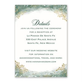 Botanical Silhouettes -  Gold - Foil Reception Card