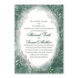 Botanical Silhouettes -  Silver - Foil Invitation