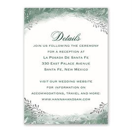 Botanical Silhouettes -  Silver- Foil Reception Card