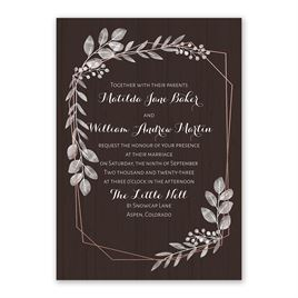 Botanical Frame -  Rose Gold - Foil Invitation