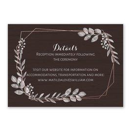 Botanical Frame - Rose Gold - Foil Reception Card