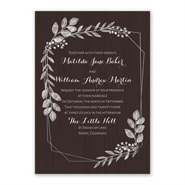 Botanical Frame -  Silver - Foil Invitation