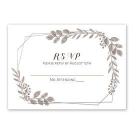 Botanical Frame -  Silver - Foil Response Card