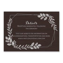 Botanical Frame -  Silver- Foil Reception Card