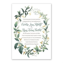 Vintage Botanical Foil Invitation