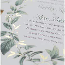 Vintage Botanical - Gold - Foil Invitation