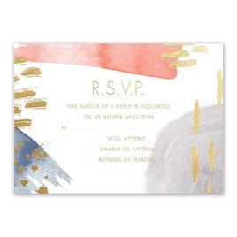 Wedding Response Cards: Work of Art Foil Response Card