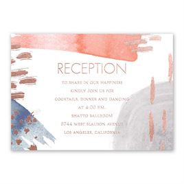 Work of Art - Rose Gold - Foil Reception Card