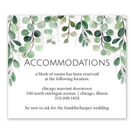 Sparkling Greenery - Rose Gold - Foil Information Card